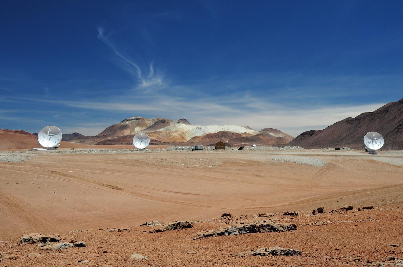 ALMA antennas interferometry, Atacama Desert