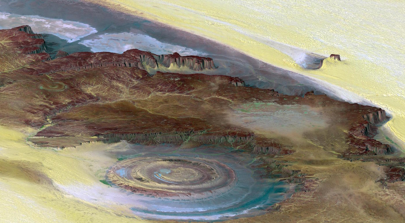 Richat Structure, the Eye of the Sahara