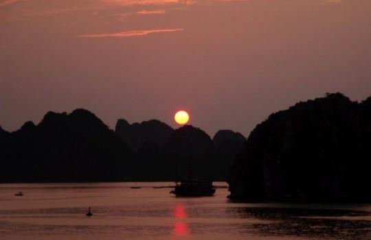 Ha Long Bay Sunset - Vietnam Trip