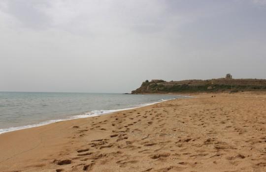 Beach at Marinella di Selinunte, Sicily, Italy