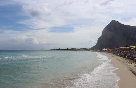 Beach at San Vito Lo Capo, Sicily, Italy