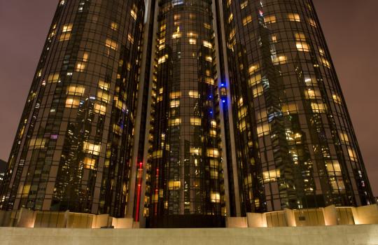 Towers of the Bonaventure Hotel, Los Angeles