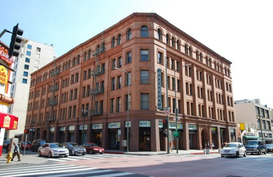 Facade of the Bradbury Building, Los Angeles