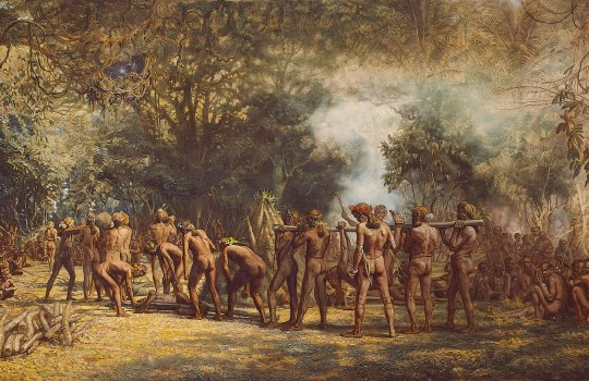 Cannibal Feast Tanna Gordon Frazer 1863-1899