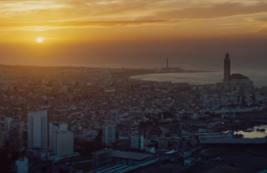 Sunset on Casablanca in Mission Impossible Rogue Nation 2015