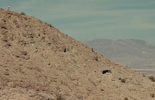 Climbing scene with Franz, Anza-Borrego Desert State Park, California (Into the Wild, 2007)