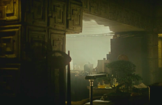 Interior of Deckard's appartment in Blade Runner (1982)