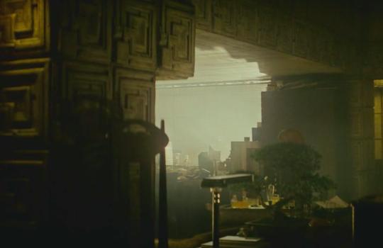 Interior of Deckard's appartment in Blade Runner (1982)