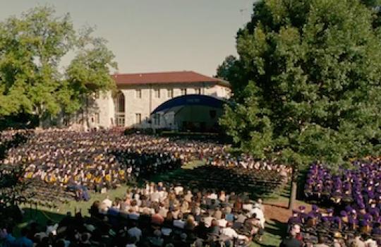 Graduation scene, Emory University (Georgia), Reed College (Portland, Oregon) (Into the Wild, 2007)