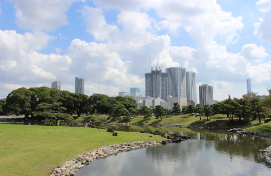 Hamarikyu Gardens Tokyo Japan