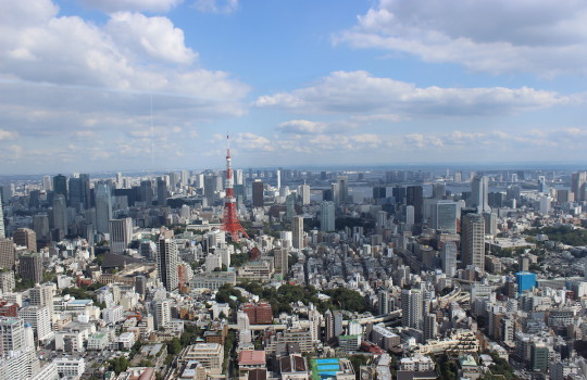 View over Tokyo from Roppongi Hills Mori Tower Japan