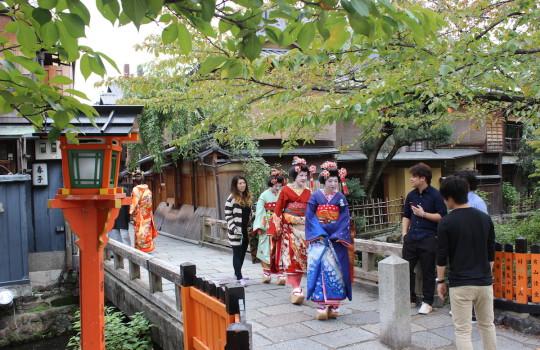 Geishas in Gion Kyoto Japan