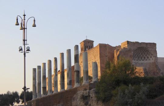 The ruined Roman Forum in Rome