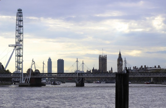 View from the Thames, London