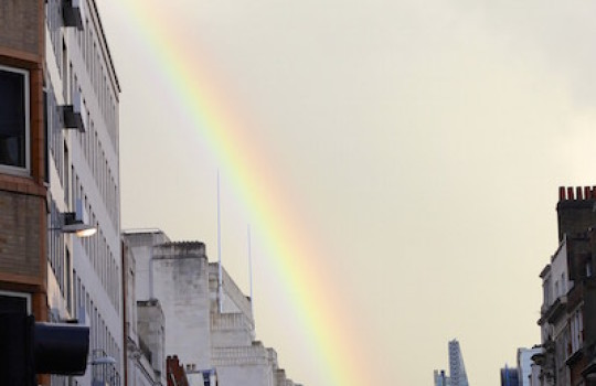 Rainbow in London