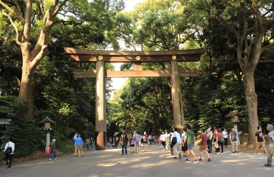 Torii of Meiji-jingu Tokyo Japan