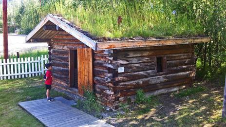 Jack London's wooden cabin, Dawson City, Yukon, Canada
