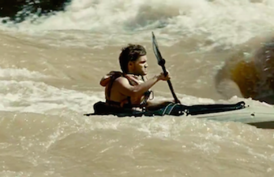 Kayak scene, Colorado River, Hoover Dam. Arizona-Nevada Border (Into the Wild, 2007)
