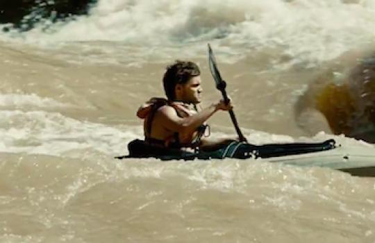 Kayak scene, Colorado River, Hoover Dam. Arizona-Nevada Border (Into the Wild, 2007)