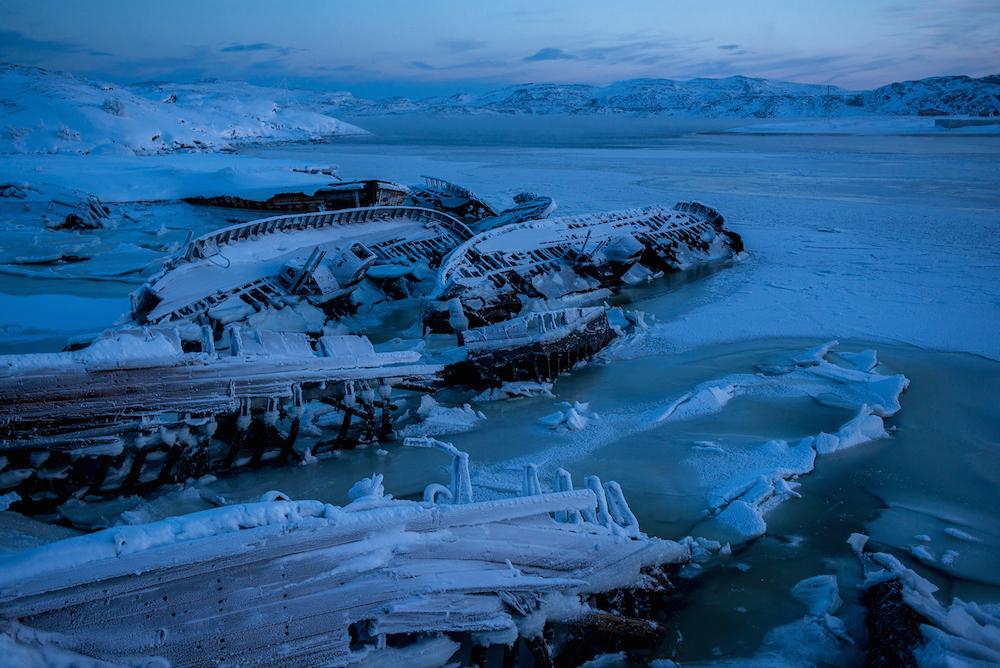 Shipwreck in Teriberka, Russia, Leviathan filming location 2014