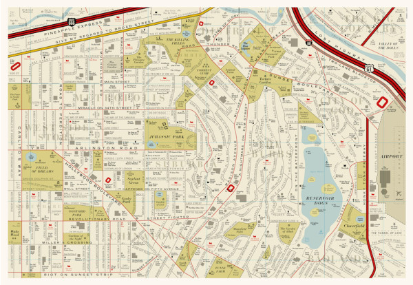 Los Angeles Film Map by Dorothy