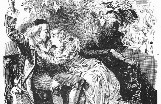 Doctor Alexandre Manette and daughter Lucie Manette original illustration A Tale of Two Cities places Charles Dickens