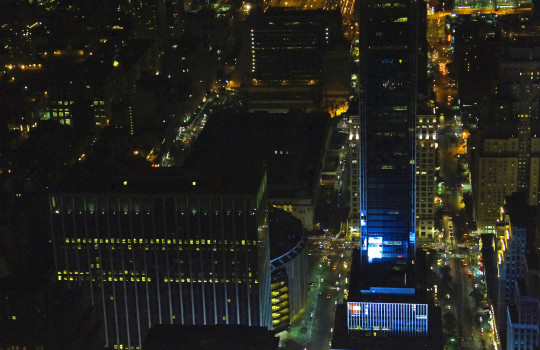 Madison Square Garden at night New York
