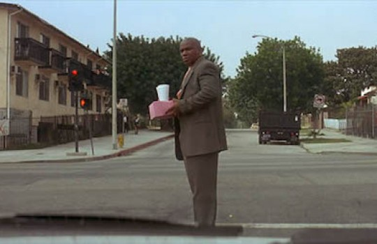 Marsellus crosses the street in front of Butch on Fletcher Drive Pulp Fiction filming locations LegendaryTrips