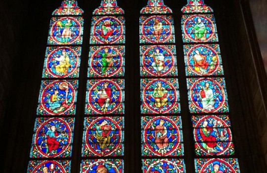 Notre-Dame stained glass, Paris