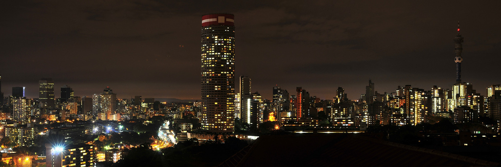 Ponte City at night Johannesburg South Africa