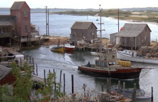 Quint's workshed, Amity Island, Menemsha port, Chilmark, Martha's Vineyard Jaws filming locations LegendaryTrips