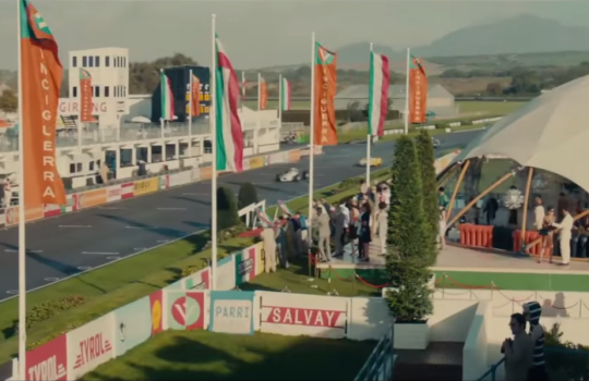 Racing scenes at Goodwood Circuit, England, The Man from UNCLE movie locations (2015)