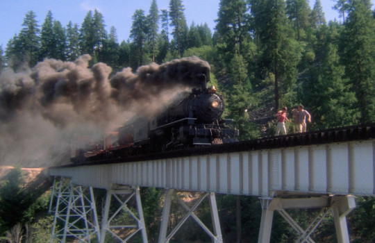 Rail bridge train scene Stand by Me filming locations (1986)
