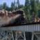 Rail bridge train scene Stand by Me filming locations (1986)