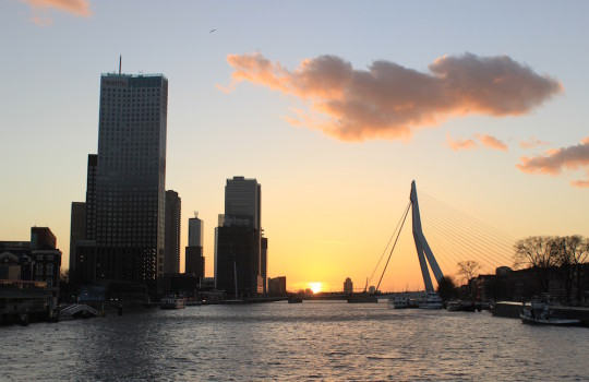Rotterdam Sunset View from Koninginnebrug, Netherlands, 24 hours in Rotterdam itinerary LegendaryTrips
