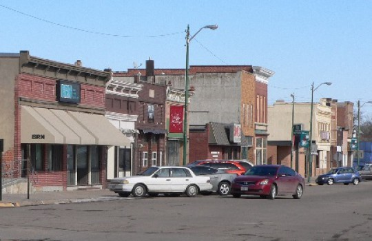 Fictionnal town of Hawthorne → Stanton, Nebraska (photo) as well as Plainview and Norfolk