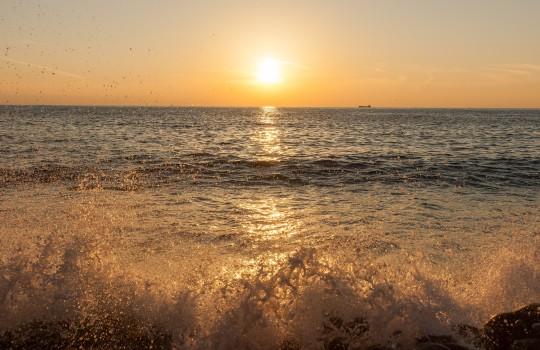 Sunset on Izu Peninsula, Japan