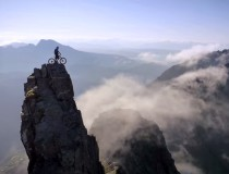 Mountain biker vs. Scotland and the Isle of Skye