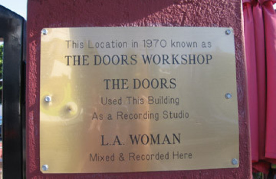 The Doors workshop sign