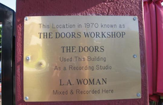 The Doors workshop sign