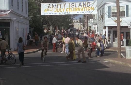 Town center of Amity Island, Water Street, Main Street, Edgartown, Martha's Vineyard Jaws filming locations LegendaryTrips