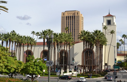 Exterior of Union Station, Alameda Street, Los Angeles