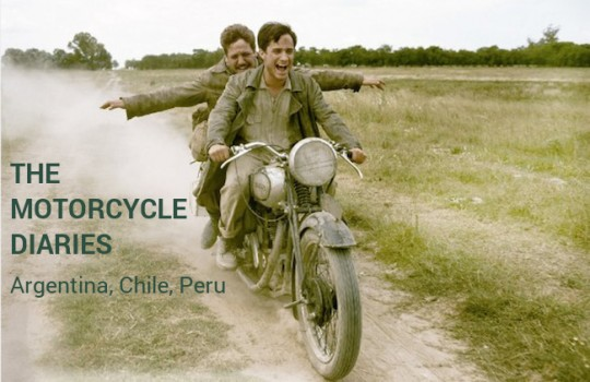 The Motorcycle Diaries ('Diarios de motocicleta') itinerary and filming locations